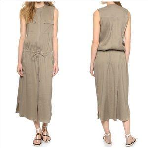 Vince Linen Blend Cargo Dress